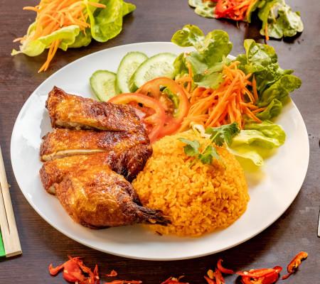 Charcoal Lemongrass Chicken rice