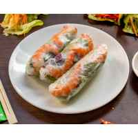 Pork and Prawn rice paper rolls