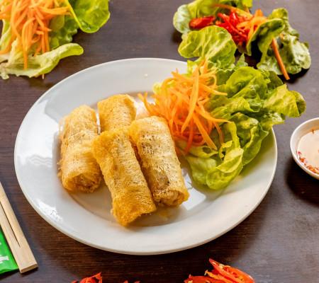 Vegetable spring rolls (3 per pack )